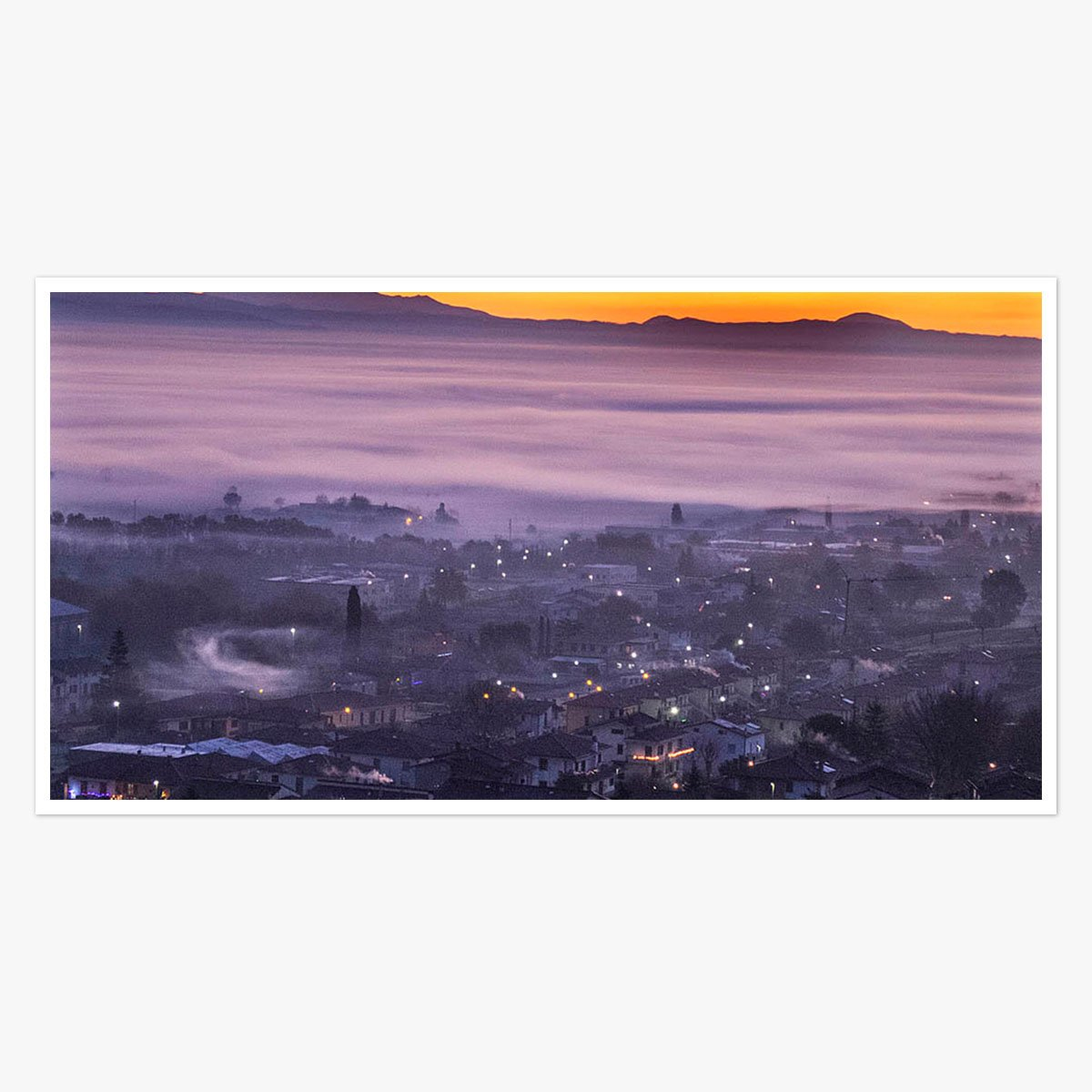 Dawn rises in Anghiari,Tuscany by Roger Taylor