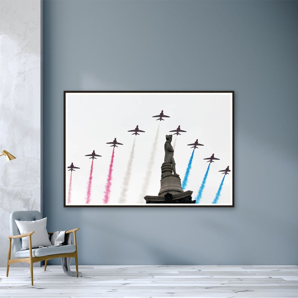 Red Arrows over Nelson's Column by Roger Jackson