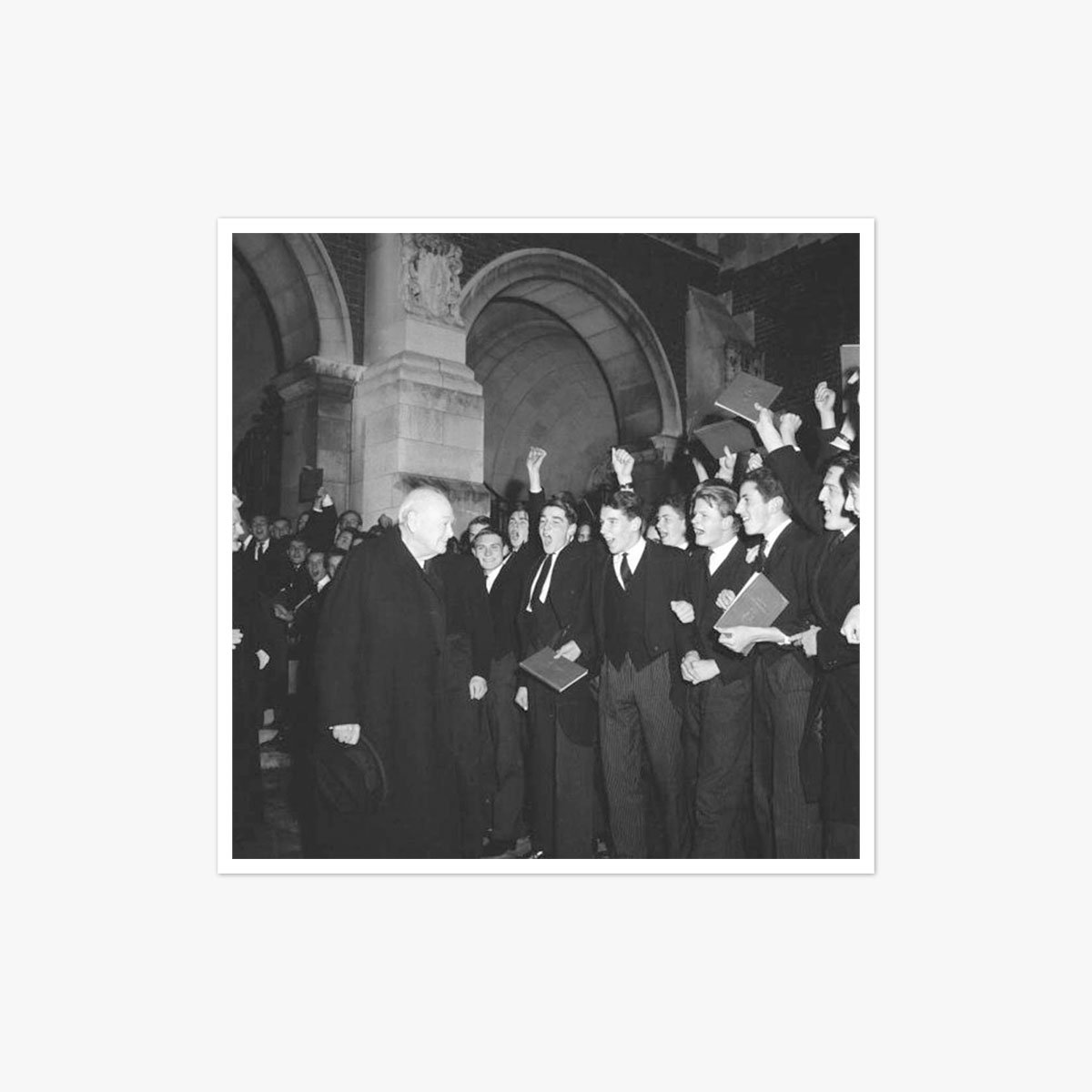 Churchill At Harrow by Harry Benson