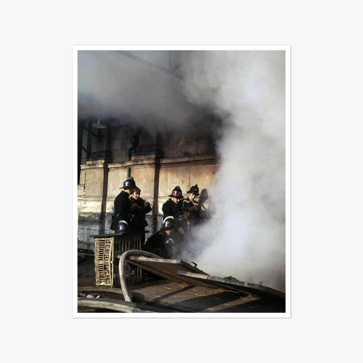 Fire Fighters tackle a blaze at Smithfield Market in London by Frank Rust